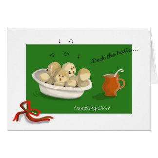 Christmas Dumpling Choir Greeting Card