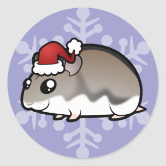 Christmas Dwarf Hamster Classic Round Sticker