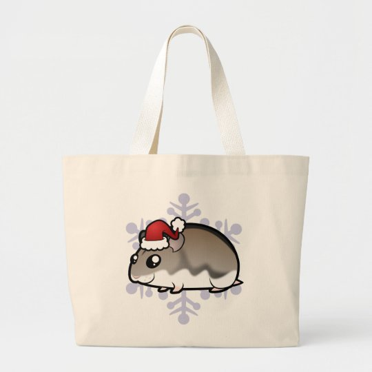 Christmas Dwarf Hamster Large Tote Bag