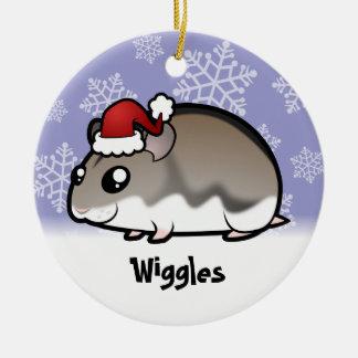 Christmas Dwarf Hamster Christmas Ornament