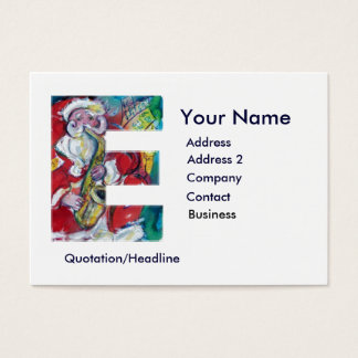 CHRISTMAS E LETTER / SANTA CLAUS WITH SAX BUSINESS CARD