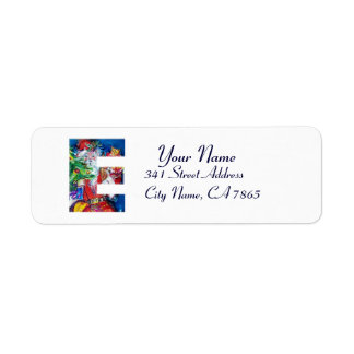CHRISTMAS E LETTER / SANTA WITH CHRISTMAS TREE LABEL