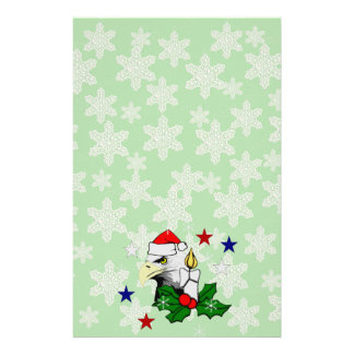 Christmas Eagle Stationery Paper