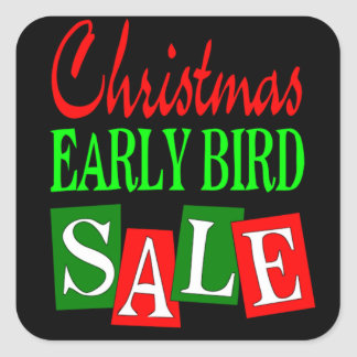 Christmas Early Bird Sale Square Sticker