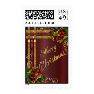 Christmas elegance postage stamp Victorian