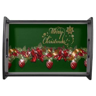 Christmas elegant wreath merry christmas GREEN Food Trays