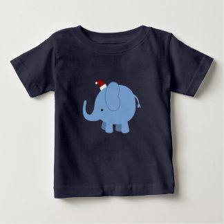 Christmas Elephant Baby T-Shirt