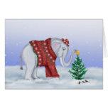 Christmas Elephant Card