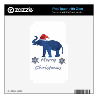 Christmas Elephant Skins For iPod Touch 4G