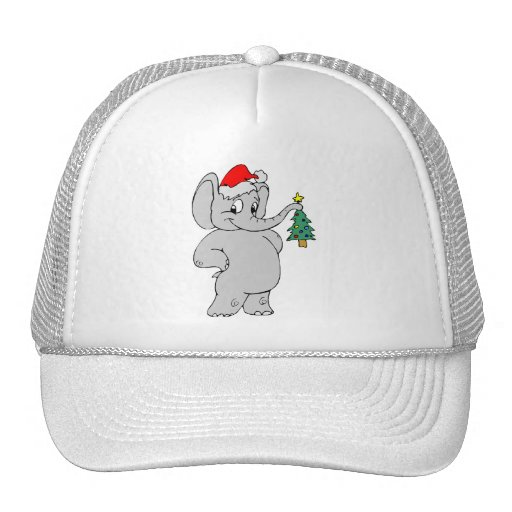 Christmas Elephant Trucker Hat