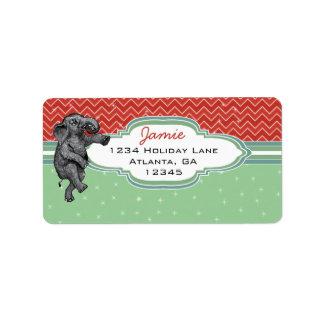 Christmas Elephant Zig Zag Pattern Return Address Address Label