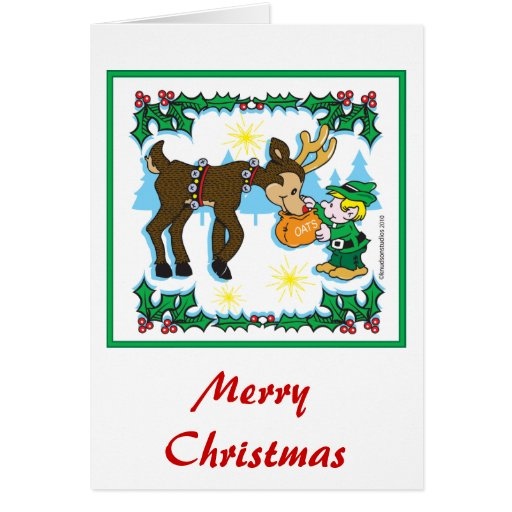 reindeer christmas card and reindeer card zazzle 2824