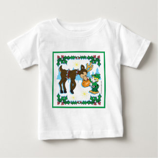 Christmas Elf and Reindeer Infant T-shirt