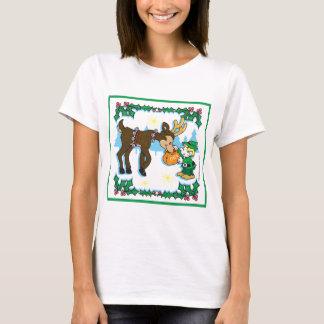 Christmas Elf and Reindeer T-Shirt