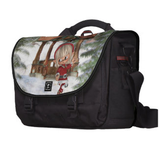 Christmas Elf at North Pole Commuter Bags