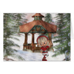 Christmas Elf at North Pole  Greeting Card