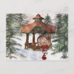 Christmas Elf at North Pole  Postcard
