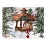 Christmas Elf at North Pole  Postcard