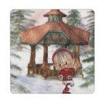 Christmas Elf at North Pole Puzzle Coaster