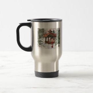 Christmas Elf at North Pole Travel Mug