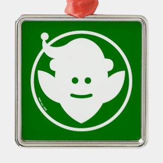 Christmas Elf Avatar Metal Ornament