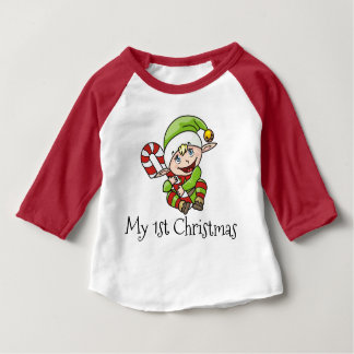 Christmas Elf Baby's My First Christmas Baby T-Shirt