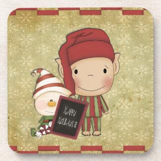 Christmas Elf Beverage Coaster
