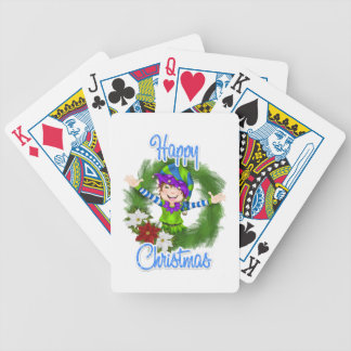 Christmas Elf Bicycle Poker Deck