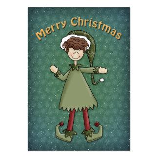 Christmas Elf Boy Business Card