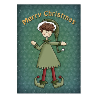 Christmas Elf Boy Large Business Card