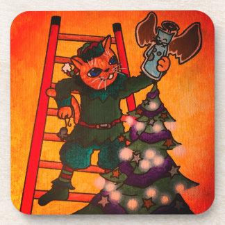 Christmas Elf Cat Coaster