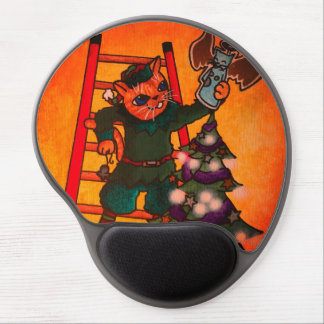 Christmas Elf Cat Gel Mouse Pad