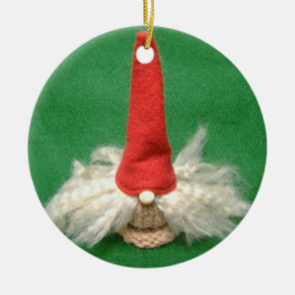 Christmas Elf Ceramic Ornament