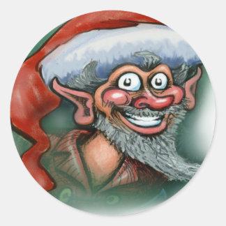 Christmas Elf Classic Round Sticker