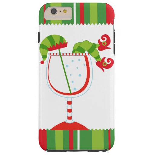 Christmas Elf Cocktail Tough iPhone 6 Plus Case