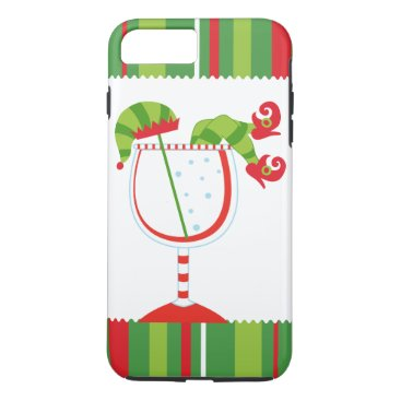 Christmas Themed Christmas Elf Cocktail iPhone 7 Plus Case