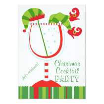 Christmas Elf Cocktail Party Invitation