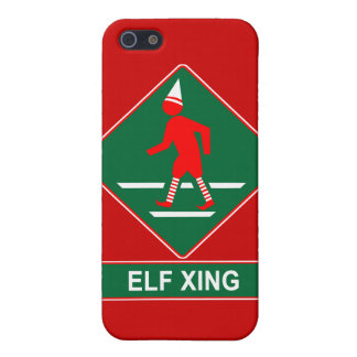 Christmas Elf Crossing Cover For iPhone SE/5/5s