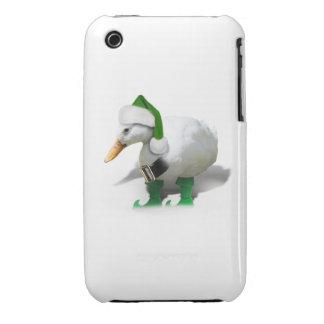Christmas Elf Duck - Santa's Helper Case-Mate iPhone 3 Case