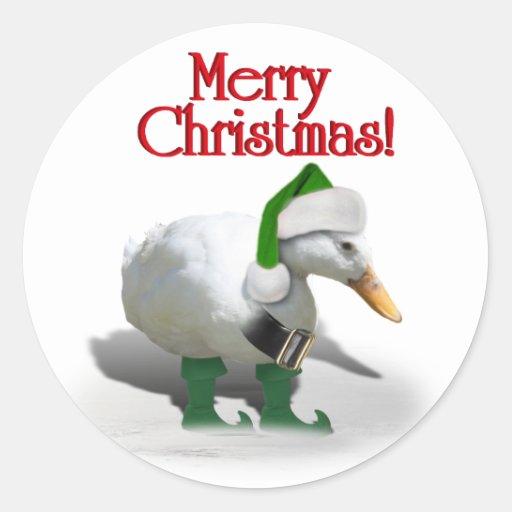 Christmas Elf Duck - Santa's Helper Sticker