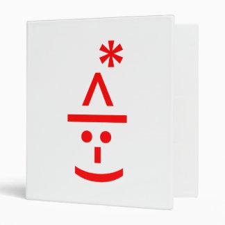 Christmas Elf Emoticon Xmas ASCII Text Art Binder