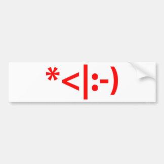 Christmas Elf Emoticon Xmas ASCII Text Art Bumper Sticker