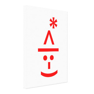 Christmas Elf Emoticon Xmas ASCII Text Art Canvas Print