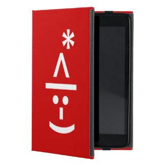 Christmas Elf Emoticon Xmas ASCII Text Art iPad Mini Cover
