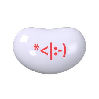Christmas Elf Emoticon Xmas ASCII Text Art Jelly Belly Tin