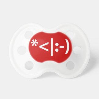 Christmas Elf Emoticon Xmas ASCII Text Art Baby Pacifiers