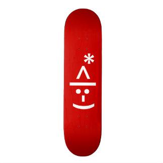 Christmas Elf Emoticon Xmas ASCII Text Art Skate Board Decks