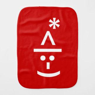 Christmas Elf Emoticon Xmas ASCII Text Art Burp Cloth
