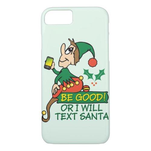 Christmas Elf Funny Design iPhone 87 Case