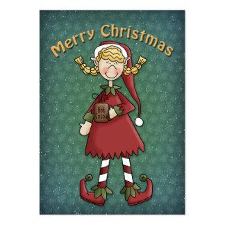 Christmas Elf Girl Large Business Card